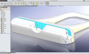"""Med """"Instant3D"""" flyttades ytan för att spåret skulle bli smalare och därmed passa bättre"""