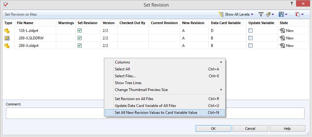 """Lite """"hemliga"""" kommandon kan plockas fram i dialogrutan för """"Set Revision"""". När man har slängt in en hel bunt med filer som har revision sedan tidigare kan man låta """"Set Revision"""" uppdatera revisionen till det som står i attributet revision på kortet..."""